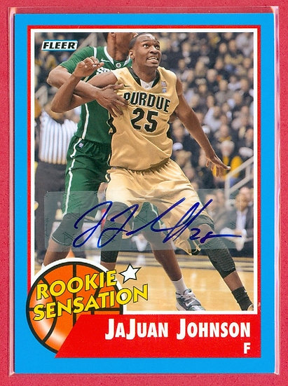"""JaJuan Johnson"" SP ROOKIE AUTOGRAPH CHASE CARD"