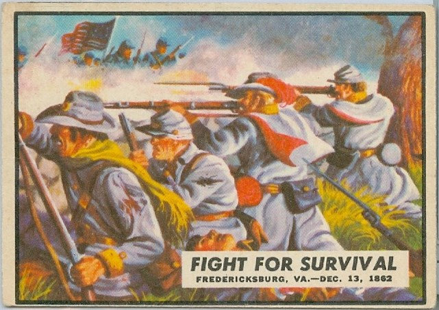 "1962 ""CIVIL WAR NEWS"" CARD #33 FIGHT FOR SURVIVAL"