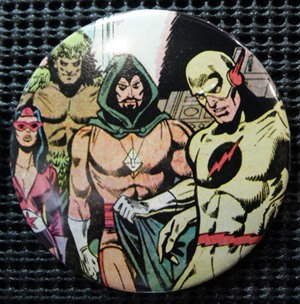 """SECRET SOCIETY OF SUPER VILLAINS"" POP CULTURE 3"" PINBACK/PIN-BACK COMIC BUTTON"