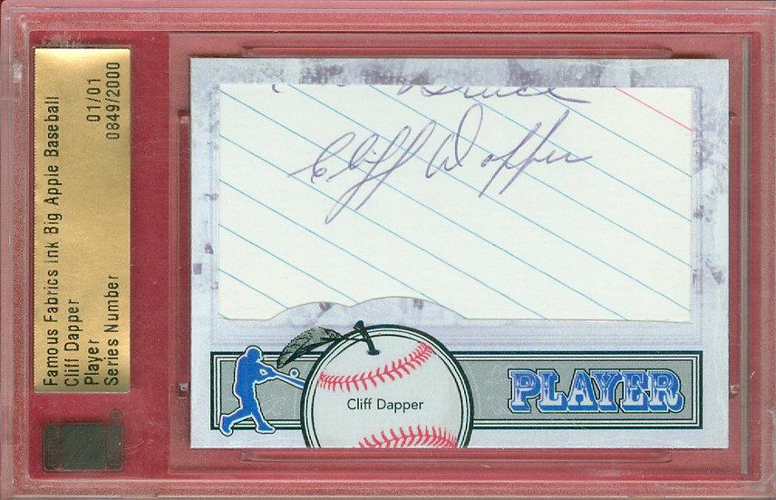 """""""Cliff Dapper"""" SSP CUT SIGNATURE CARD #'ed 01/01"""