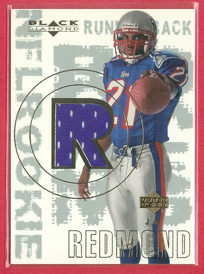 """J.R. Redmond"" SP RC EVENT-WORN JERSEY CHASE CARD"