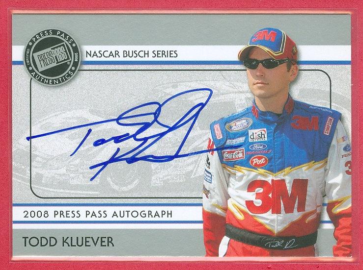 """Todd Kluever"" NASCAR SP AUTOGRAPH CHASE CARD"