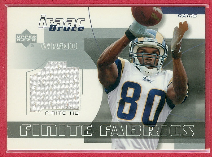 """""""Isaac Bruce"""" GAME-USED JERSEY CHASE CARD #FF-IB"""