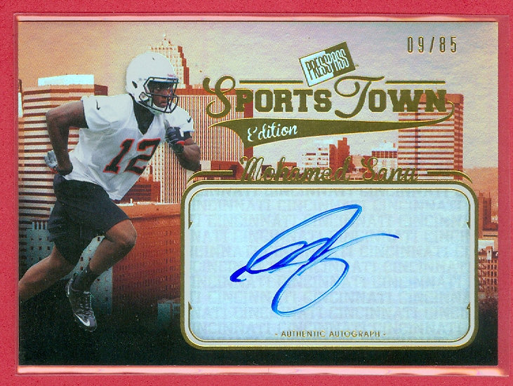"""Mohamed Sanu"" SP RC AUTOGRAPH FOIL CARD #d 09/85"