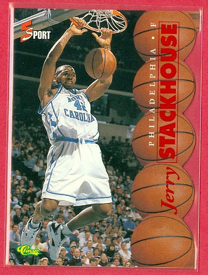 """""""Jerry Stackhouse"""" CLASSIC SP DIE-CUT RC CARD #3"""