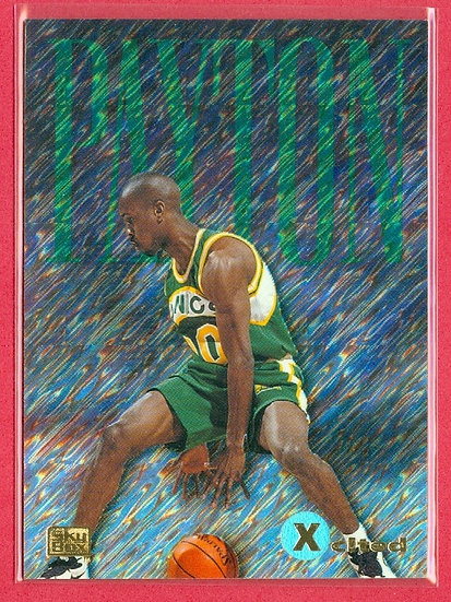"""""""Gary Payton"""" SP """"XCITED"""" PRISM FOIL CARD #11"""