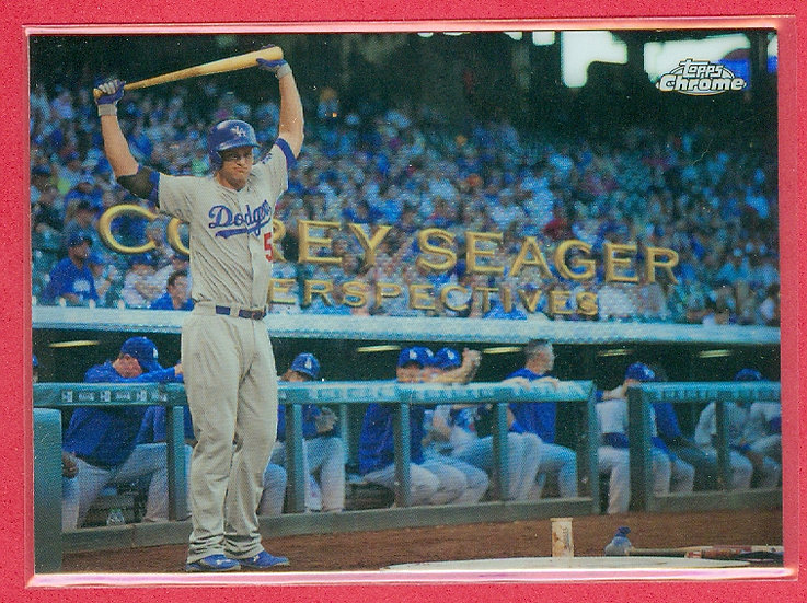"""""""Corey Seager"""" 2016 TOPPS CHROME CHASE CARD #PC-18"""
