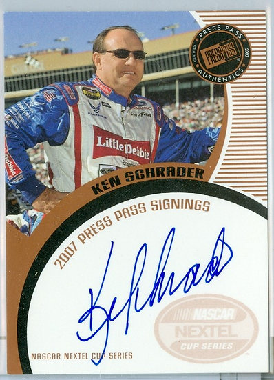"NASCAR ""Ken Schrader"" AUTHENTIC ON-CARD AUTOGRAPH"