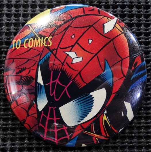 """SPIDER-MAN"" POP CULTURE 3"" PINBACK/PIN-BACK COMIC BUTTON"