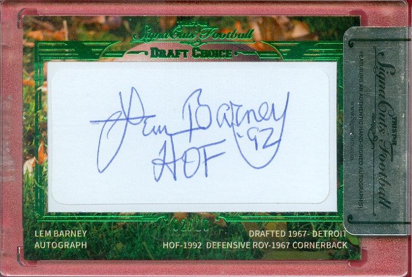 """""""Lem Barney"""" HOF SSP CUT SIGNATURE CARD #'ed 02/10"""