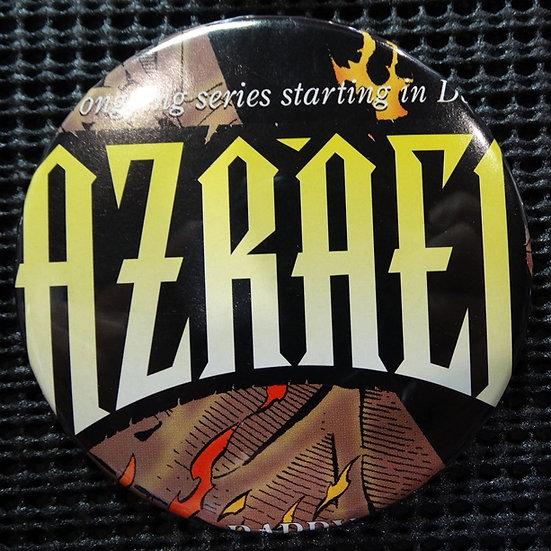 """AZRAEL"" TITLE/LOGO/ICON POP CULTURE 3"" PINBACK/PIN-BACK COMIC BUTTON"