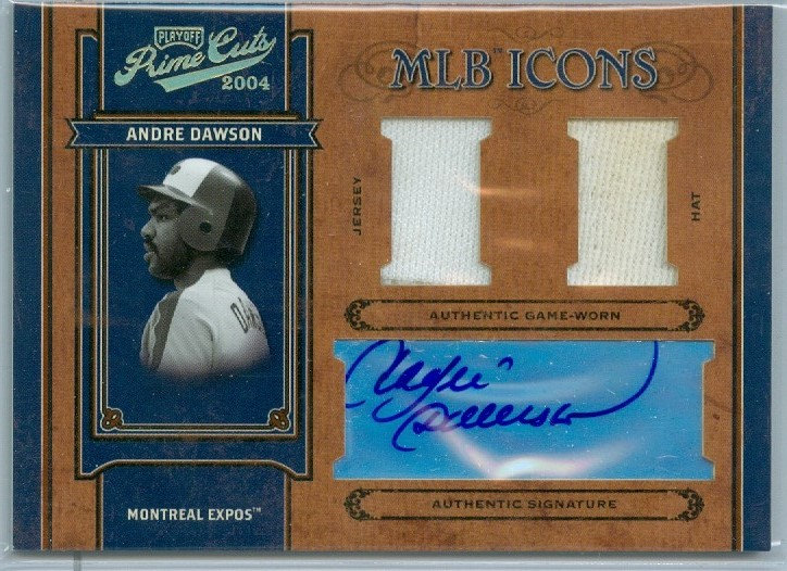 Andre Dawson  AUTOGRAPH/JERSEY/HAT CARD #ed 07/10