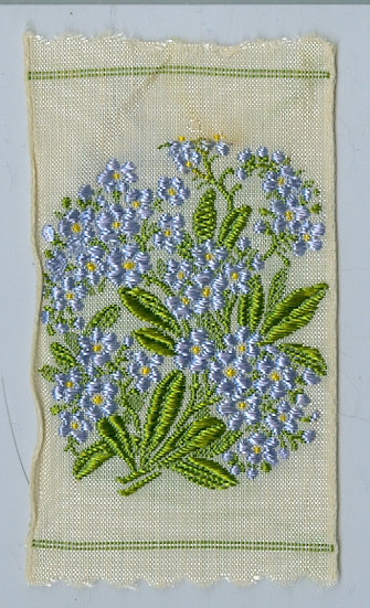 "1900's ""Blue Flowers Print"" CIGARETTE TOBACCO SILK"