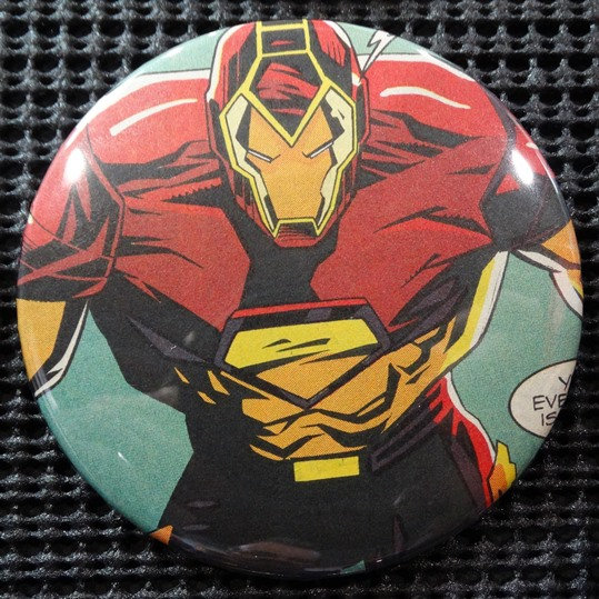 """IRON MAN/AVENGERS"" POP CULTURE 3"" PINBACK/PIN-BACK COMIC BUTTON"