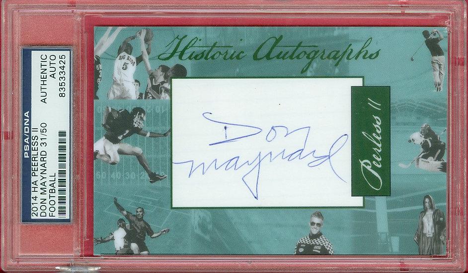 """""""Don Maynard"""" HOF SP CUT SIGNATURE CARD #d 31/50"""