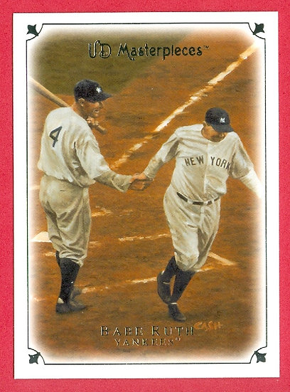 """""""Babe Ruth"""" 2007 UD MASTERPIECES CARD #1"""
