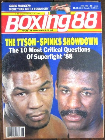 """1988 """"BOXING 88"""" MAGAZINE - TYSON / SPINKS Cover!!"""