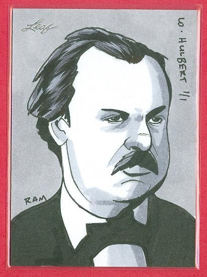 """William Hulbert"" LEAF SSP 1/1 SKETCH ARTWORK CARD"