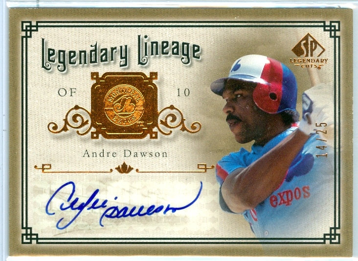 """Andre Dawson"" SSP AUTHENTIC AUTOGRAPH #ed 14/25"