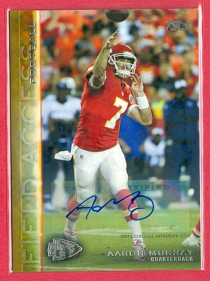 """""""Aaron Murray"""" SP AUTOGRAPH CHASE CARD #d 26/99"""