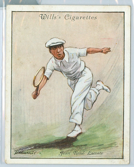 "1931 WILLS ""Jean Rene' Lacoste"" TOBACCO CARD #14"
