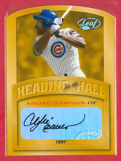 """""""Andre Dawson"""" AUTHENTIC AUTOGRAPH CARD #d 44/50"""
