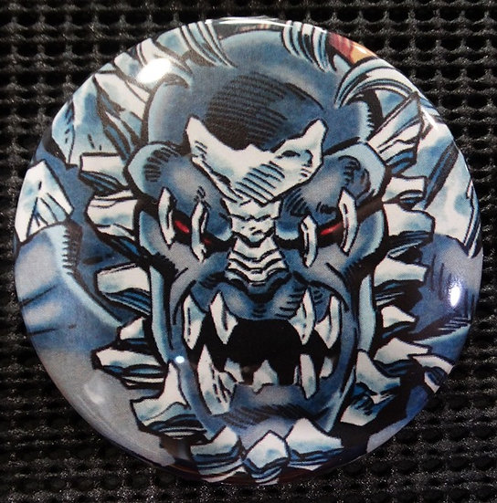 """DOOMSDAY/SUPERMAN"" POP CULTURE 3"" PINBACK/PIN-BACK COMIC BUTTON"