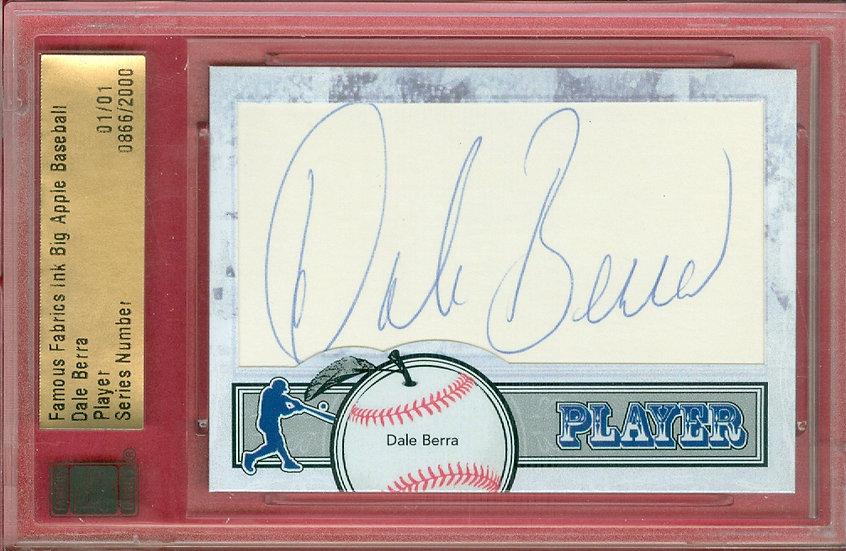 """""""Dale Berra"""" SSP CUT SIGNATURE CARD #'ed 01/01"""