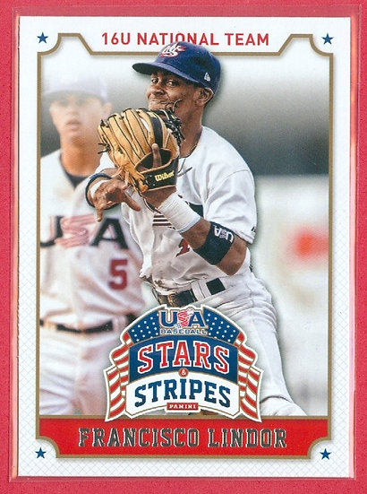 Francisco Lindor 2015 Stars Stripes Baseball Rookierc