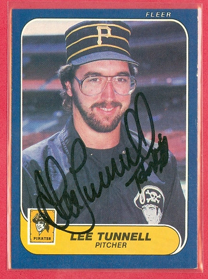 """""""Lee Tunnell"""" IN PERSON/THROUGH THE MAIL AUTO CARD"""