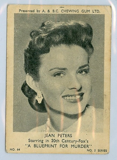 "1953 A&BC BLACKSTAR ""Jean Peters"" CARD #64"