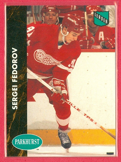 """""""Sergei Fedorov"""" SP PARKHURST COLLECTIBLE #PCH-5"""