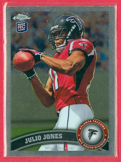 """Julio Jones"" 2011 TOPPS CHROME RC CARD #131"