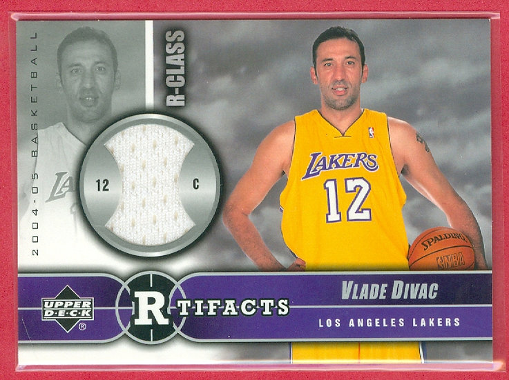 """Vlade Divac"" SP GAME-USED WARM-UP CHASE CARD"