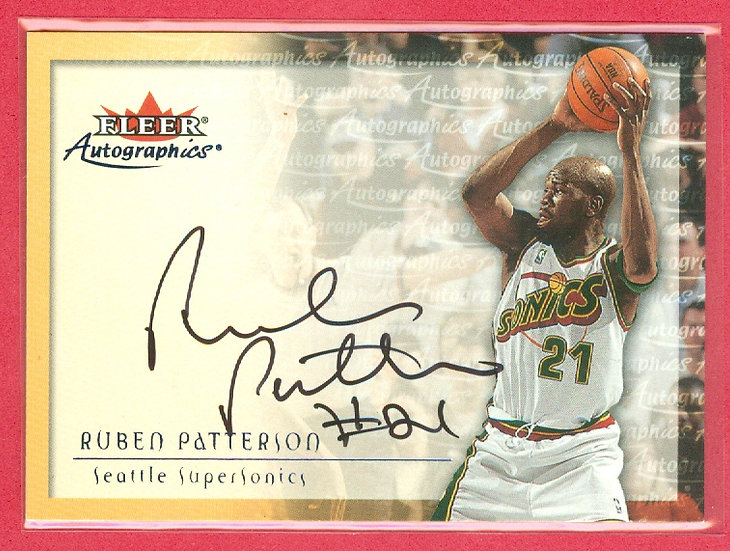 """""""Ruben Patterson"""" SP """"AUTOGRAPHics"""" CHASE CARD"""