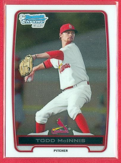 """""""Todd McInnis"""" 2012 BOWMAN CHROME RC CARD #BCP63"""