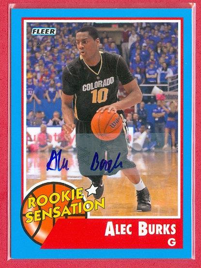 """""""Alec Burks"""" FLEER RETRO SP RC AUTOGRAPH CARD #56"""