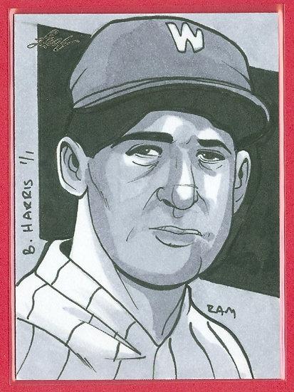 """Bucky Harris"" LEAF SSP 1/1 SKETCH ARTWORK CARD"