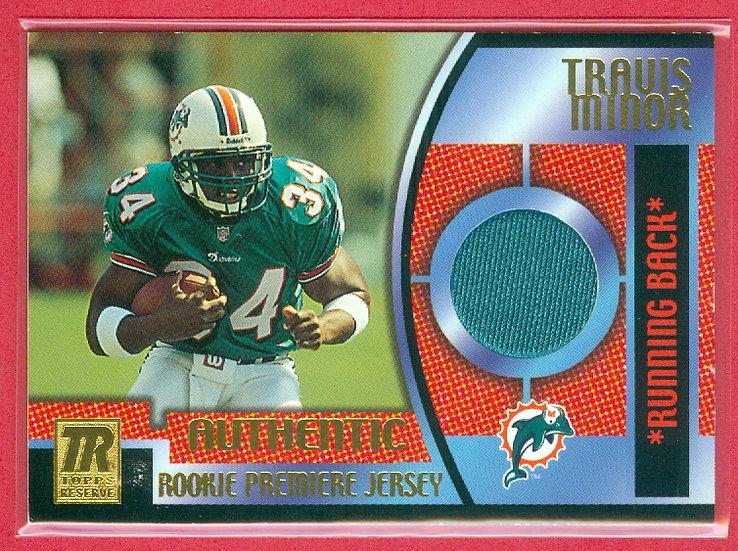 """""""Travis Minor"""" SP RC JERSEY CHASE CARD #TRR-TM"""