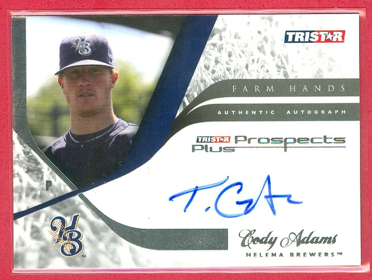 """""""Cody Adams"""" SP ROOKIE AUTOGRAPH CHASE CARD"""