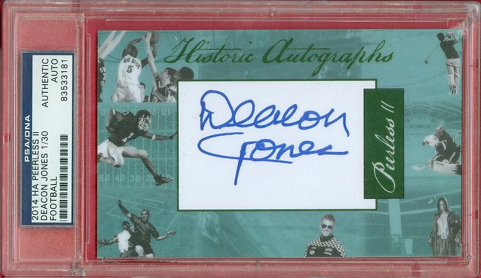 """Deacon Jones"" HOF SSP CUT SIGNATURE CARD #d 1/30"