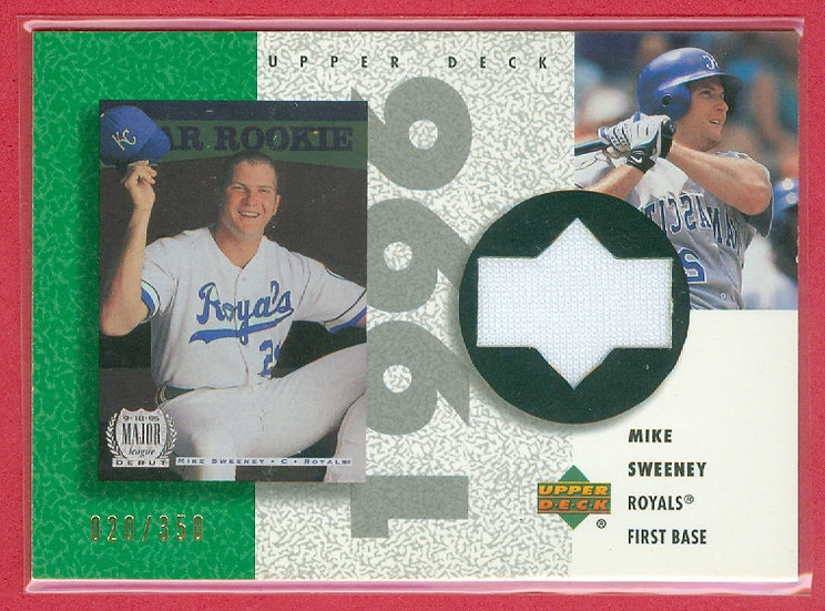 Mike Sweeney SP GAME JERSEY RELIC CARD #d 020/350