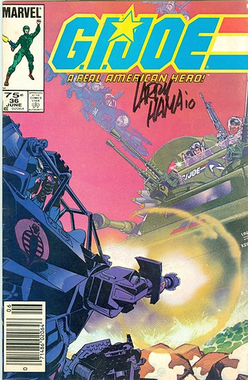 """Larry Hama"" AUTOGRAPHED 1985 ""G.I. JOE"" #36"