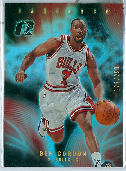 """Ben Gordon"" SP REFRACTOR CARD #d 125/299"