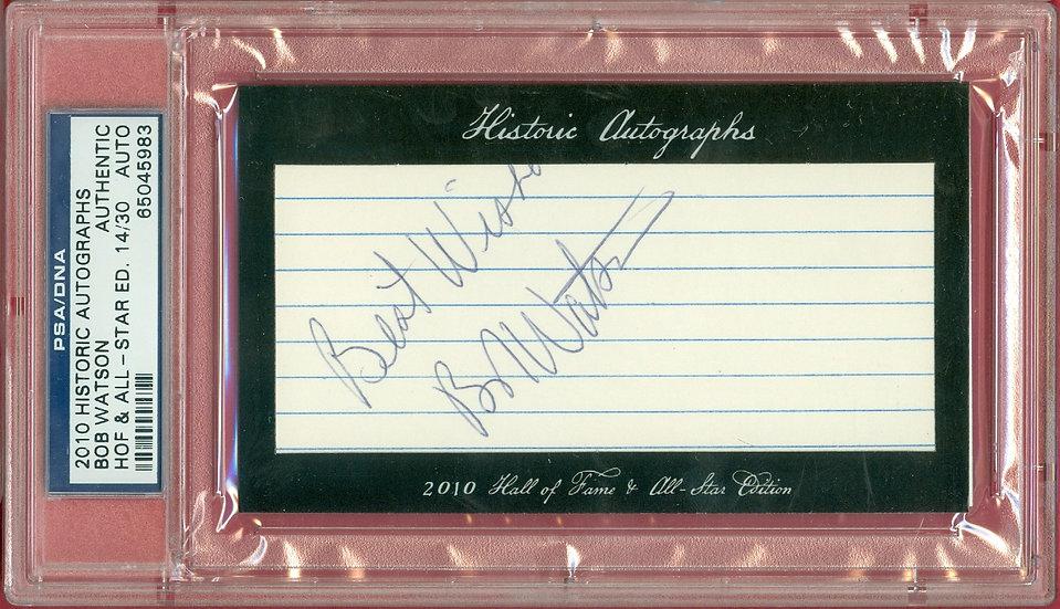"""Bob Watson"" SSP CUT SIGNATURE CARD #'ed 14/30"