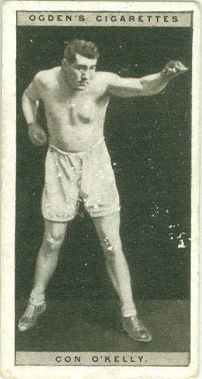 """1928 OGDEN'S """"Con O'Kelly"""" BOXING TOBACCO CARD #32"""