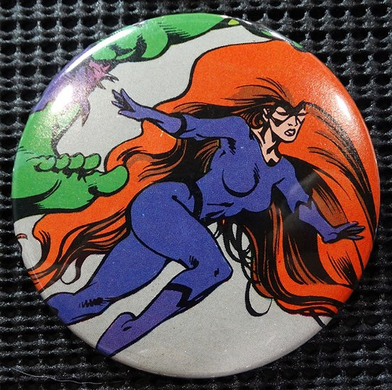 """MEDUSA/INHUMANS"" POP CULTURE 3"" PINBACK/PIN-BACK COMIC BUTTON"