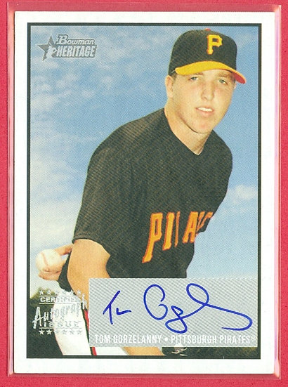 """Tom Gorzelanny"" BOWMAN SP AUTOGRAPH CHASE CARD"