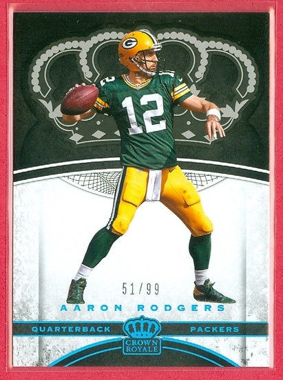 """Aaron Rodgers"" SP PARALLEL CHASE CARD #'ed 51/99"
