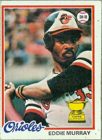 """1978 TOPPS """"Eddie Murray"""" ROOKIE/RC Card #36"""